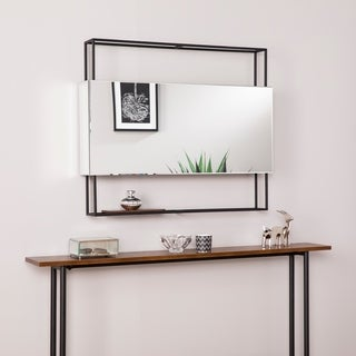 Harper Blvd Kellan Horizontal Shadowbox Mirror w/ Shelf - 36 in w x 5 in d x 30 in h