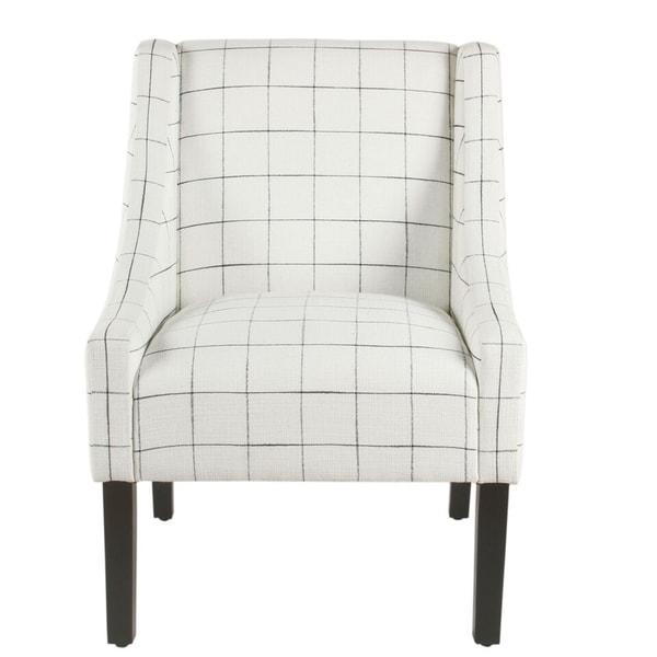 Shop Homepop Modern Swoop Arm Accent Chair White