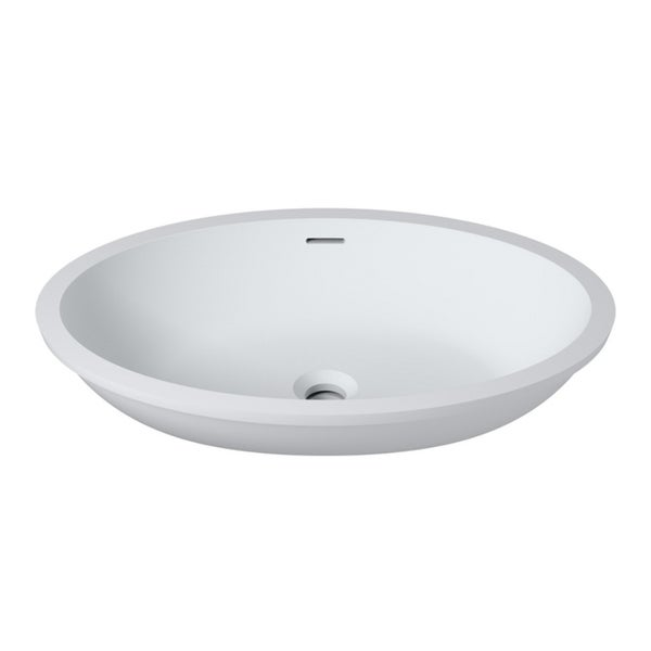 Shop 23 Quot X16 Quot Polystone Undermount Overmount Oval Sink In