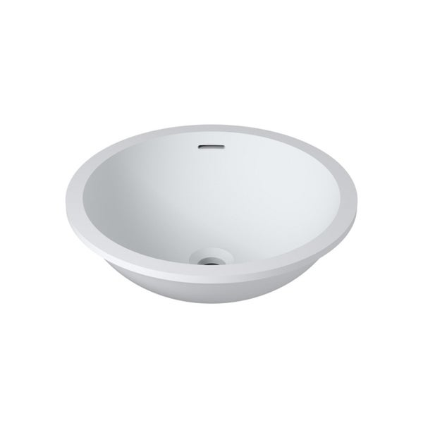 Shop 20 Quot X16 Quot Polystone Undermount Overmount Round Sink In