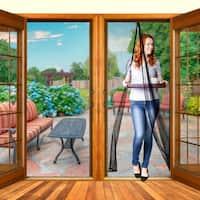 Improved Magic Screen Magnetic Door Stronger Magnet & Heavy Duty Mesh