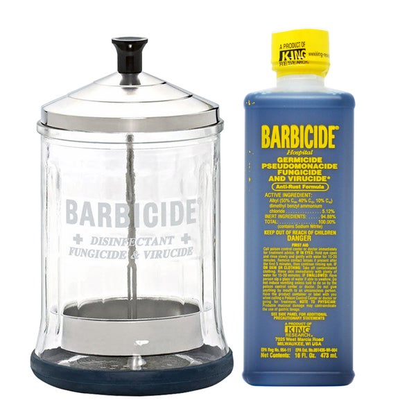 King Research Barbicide Disinfecting Midsize Jar + Disinfectant