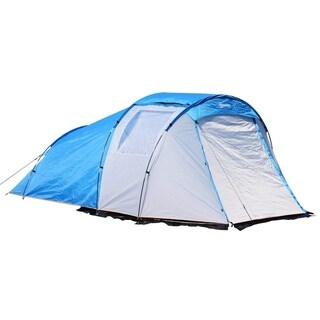 Outsunny Outdoor Folding Dome Waterproof Camping Tent 2-4 Person with Porch