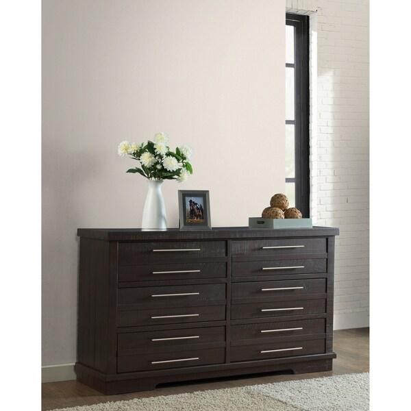 shop waterfront solid wood 6 drawer dresser espresso on sale free shipping today. Black Bedroom Furniture Sets. Home Design Ideas