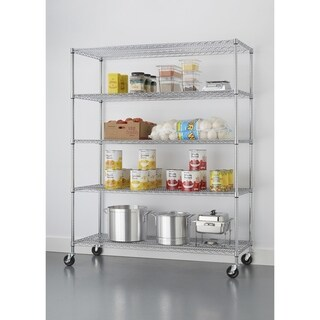 TRINITY Basics 5-Tier Wire Shelving Rack