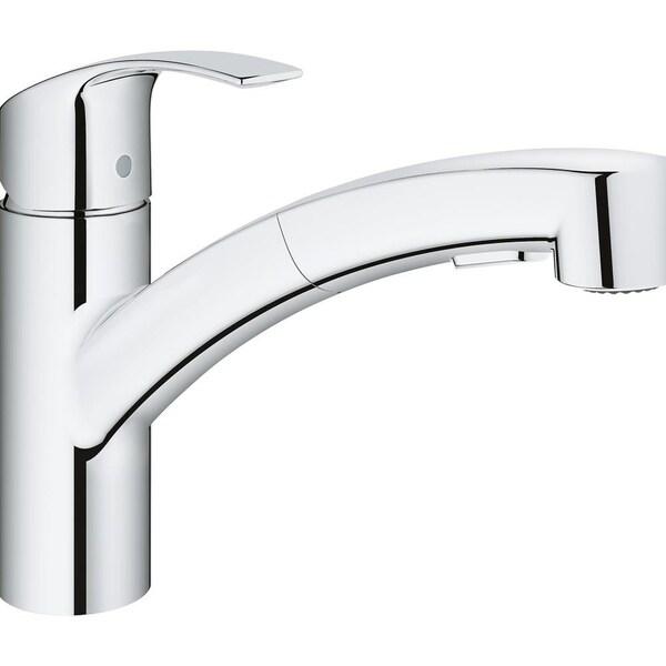 225 & Grohe Eurosmart Single-Handle Kitchen Faucet 30306000 StarLight Chrome