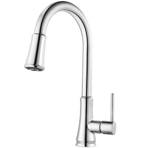 Pfister Pfirst Series Pull-Down Kitchen Faucet G529-PF1C Polished Chrome