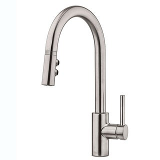 Pfister Stellen 1-Handle Pull Down Kitchen Faucet LG529-SAS Stainless Steel