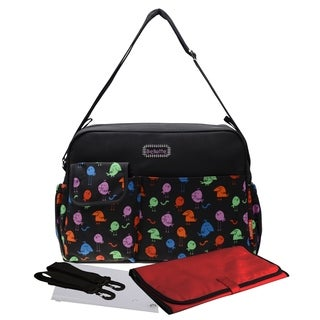 Messager Tote Baby Diaper Mommy Bag Stroller Friendly 14 Pockets