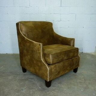 Furniture Pipeline Dallas Leather Arm Chair