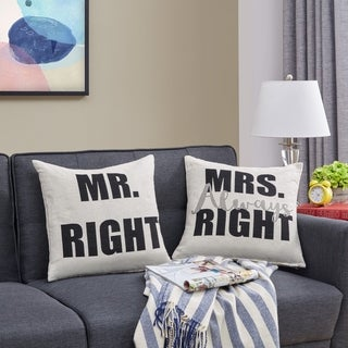 Danya B. Mr. Right and Mrs. Always Right Accent Throw Pillows
