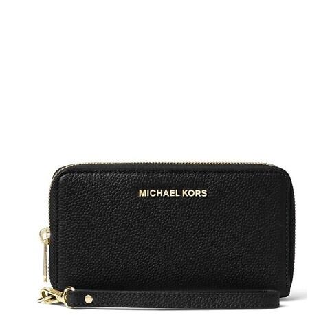 MICHAEL Michael Kors Black Large Flat Phone Wristlet