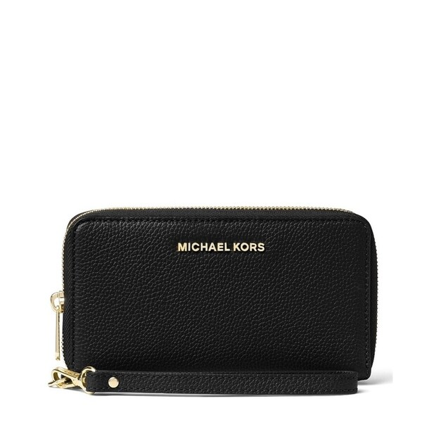 f1c8e8abf03a Shop MICHAEL Michael Kors Black Large Flat Phone Wristlet - On Sale - Free  Shipping Today - Overstock - 22369373
