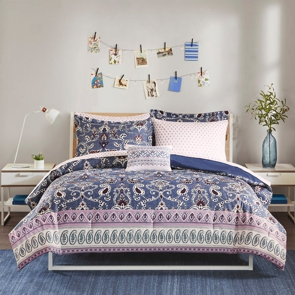 Intelligent Design Addison Purple 8-piece Bed in a Bag Set