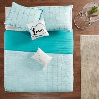 Link to Intelligent Design Khloe Metallic Printed Reversible Coverlet Set Similar Items in Kids Quilts & Coverlets