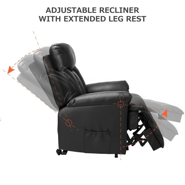 Shop Merax PU Leather Recliner Power Lift Chair Overstock