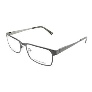 Banana Republic Rectangle Carlyle JWW Unisex Brushed Ruthenium Frame Eyeglasses
