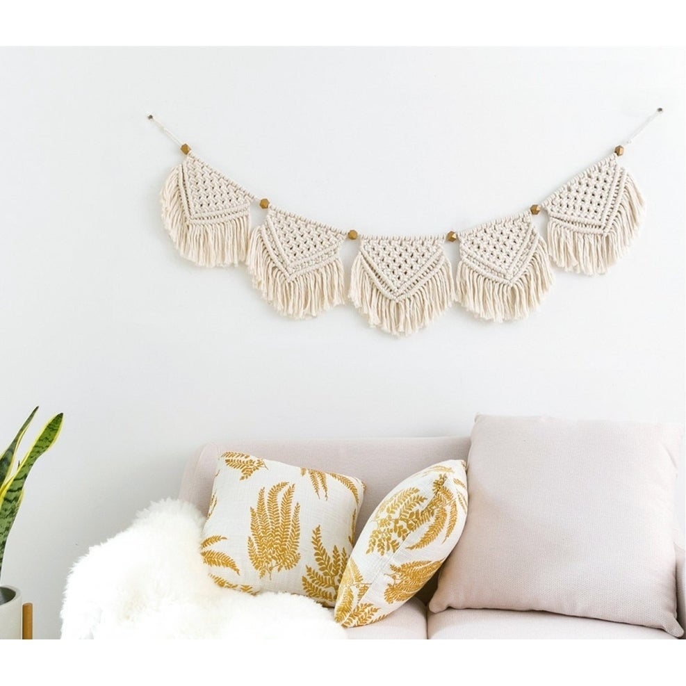 Shop Macrame Banner Wall Hanging Home Decor On Sale Overstock