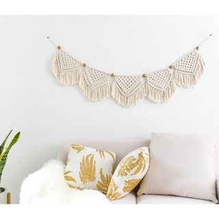 Macrame Banner Wall Hanging Home Decor