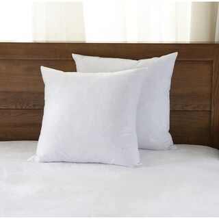Downluxe Feather Down Square Throw Pillow Inserts (Set of 2)