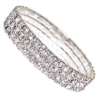 Fashion Jewelry Silver Crystal Tennis Women's Five Tier Rhinestone Bracelet