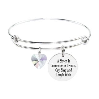Adjustable Bangle with Crystals from Swarovski - A SISTER