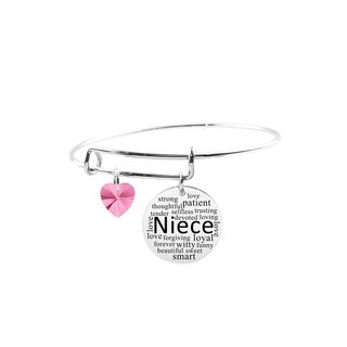 Adjustable Bangle with Crystals from Swarovski - Niece