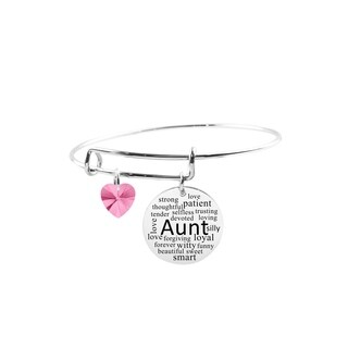 Adjustable Bangle with Crystals from Swarovski - Aunt