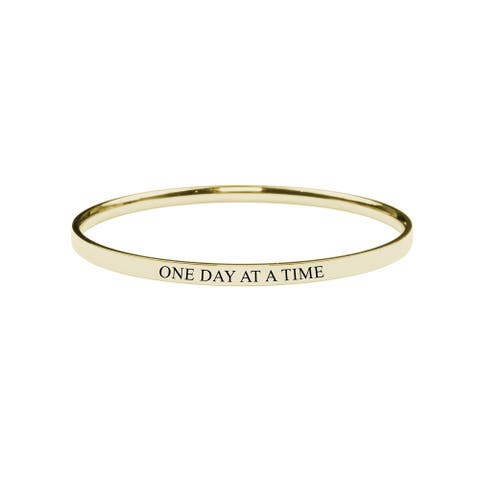 Round Inspirational bangle - One Day at a Time