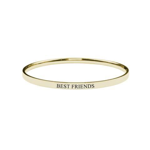 Round Inspirational bangle - Best Friends