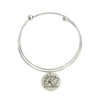 Initial Double Layer Bangle - K