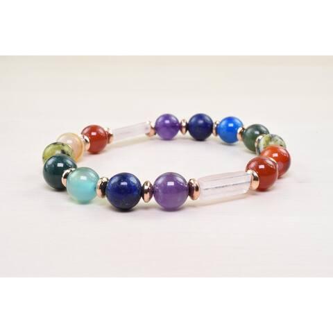 Genuine Healing Chakra Bracelet Quartz Tone