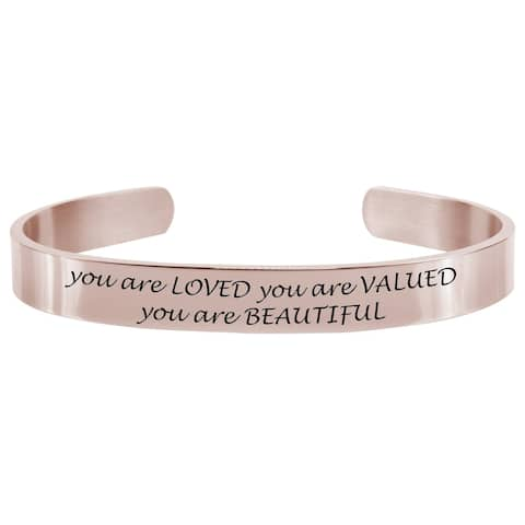 You Are Loved 8MM Cuff