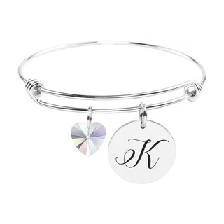 Initial Bangle made with Crystals from Swarovski - K