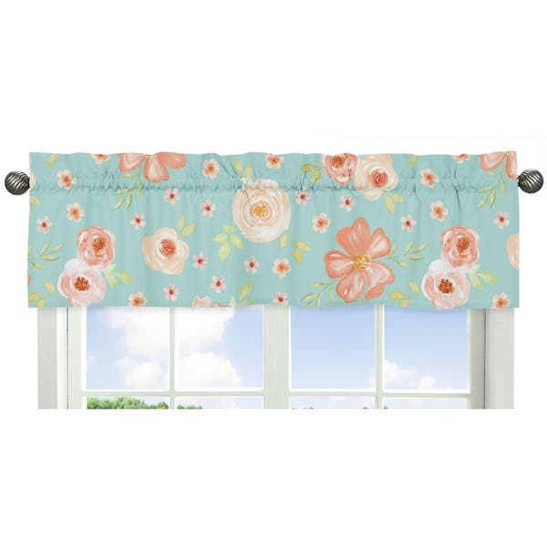 Sweet Jojo Designs Turquoise And Peach Shabby Chic Watercolor Floral Collection Girl 11 Piece Crib Bedding Set Overstock 22375931