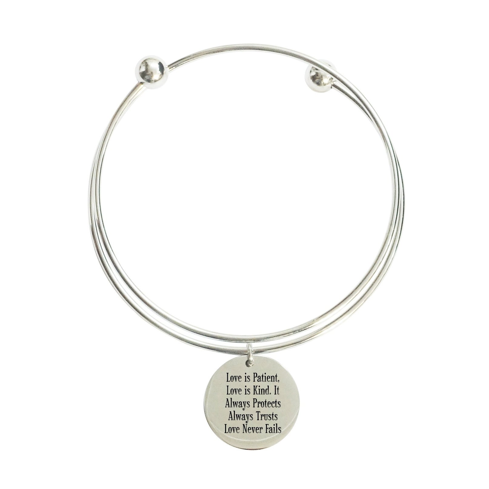 Love Is Patient Double Layer Bangle