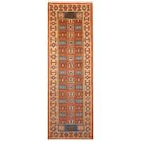 Herat Oriental Indo Hand-knotted Tribal Kazak Wool Runner (2' x 6'6)