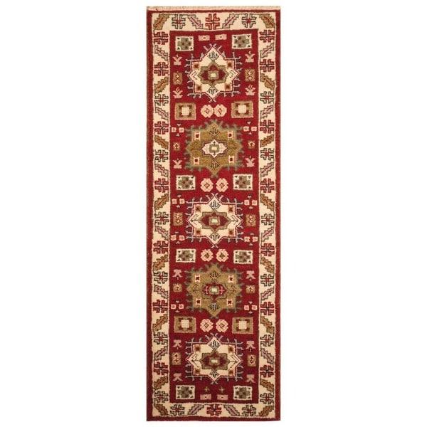 Handmade Kazak Wool Runner (India) - 2'1 x 6'11