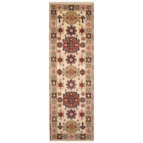 Handmade One-of-a-Kind Kazak Wool Runner (India) - 2'1 x 6'9