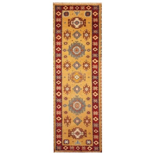 Handmade Kazak Wool Runner (India) - 2'2 x 6'7