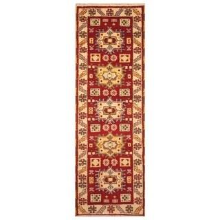 Handmade One-of-a-Kind Kazak Wool Runner (India) - 2'1 x 6'6