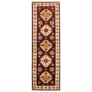 Handmade One-of-a-Kind Kazak Wool Runner (India) - 2'3 x 6'6