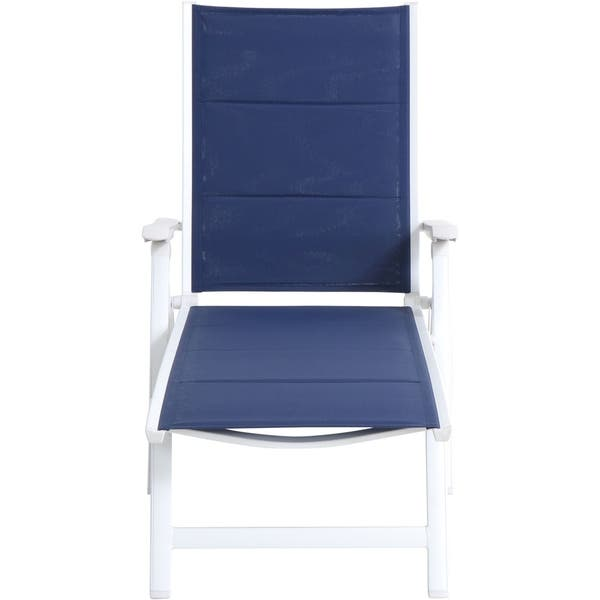 Super Shop Mod Furniture Everson Navy White Fabric Aluminum Padded Unemploymentrelief Wooden Chair Designs For Living Room Unemploymentrelieforg