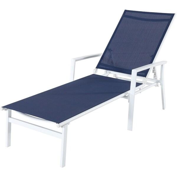 Shop Mōd Furniture Harper Sling Chaise White Navy Free