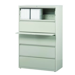 "8000 Series 36"" Wide 5-Drawer Lateral File Cabinet, Light Gray"