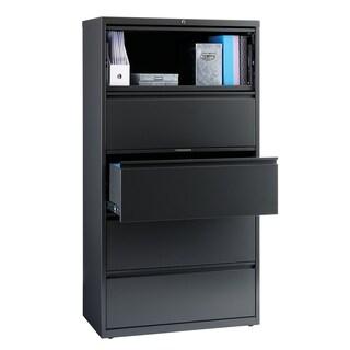 Hirsh 8000 Series Charcoal Metal 5-drawer Lateral File Cabinet