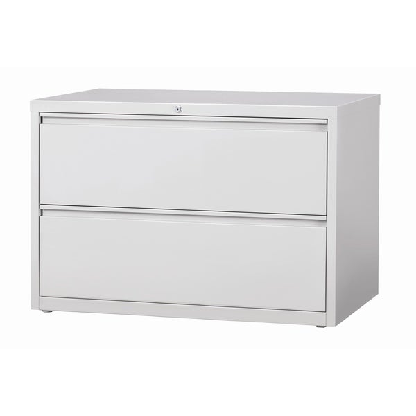Hirsh 8000 Series Light Grey Metal 42 Inch Wide 2 Drawer Lateral File Cabinet