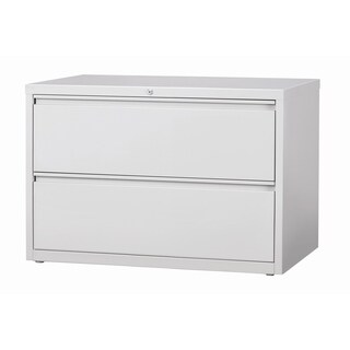 Hirsh 8000 Series Light Grey Metal 42-inch Wide 2-drawer Lateral File Cabinet