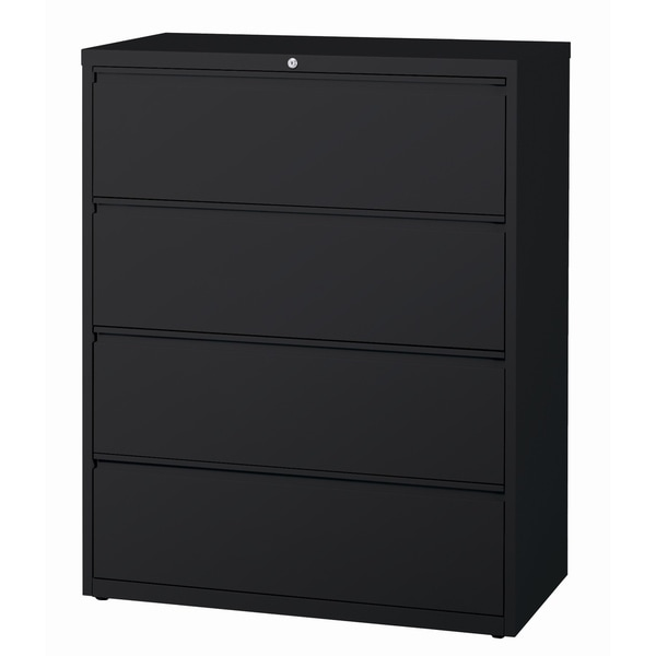 Hirsh 8000 Series Black Metal 42 Inch Wide 4 Drawer Lateral File Cabinet