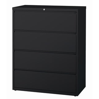 """8000 Series 42"""" Wide 4-Drawer Lateral File Cabinet, Black"""